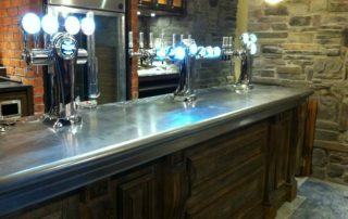 Stainles steel bar top in JD Wetherpoon, Ruthin